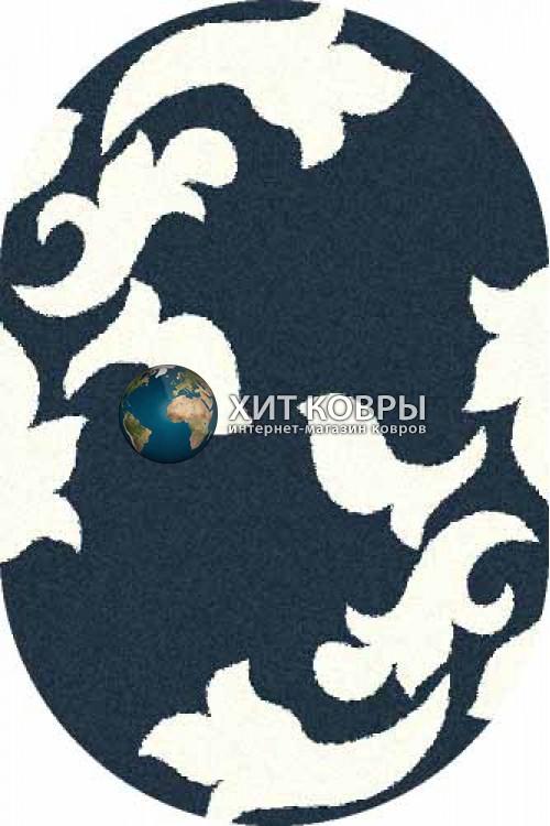 Российский ковер  овальный Platinum t620 бирюзовый natural